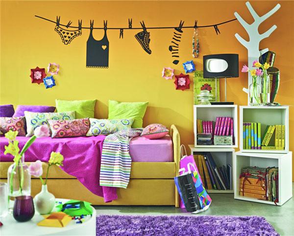 Идеи оформления стен детской