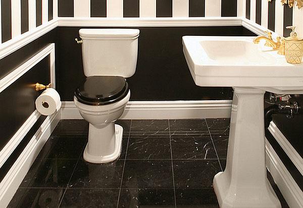 Чёрно-белая ванная комната от  ARPA Design-Build