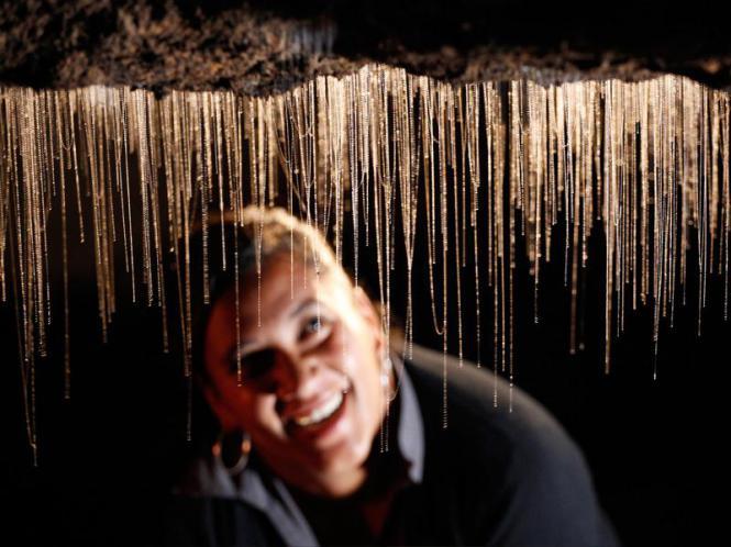 Вайтомо - пещеры светлячков в Новой Зеландии. Фото