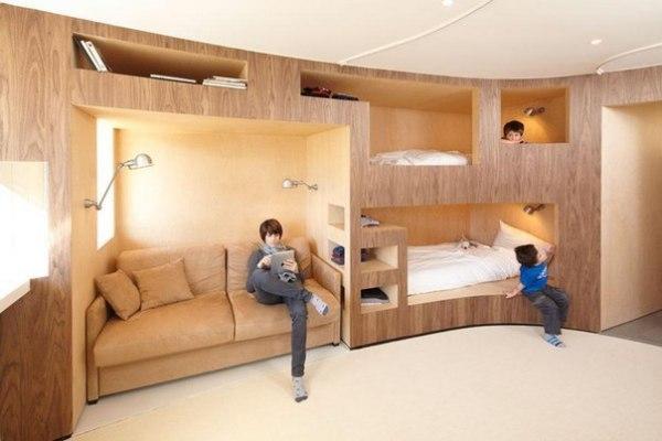 Инновационная деревянная двухъярусная кровать от H2O Architects