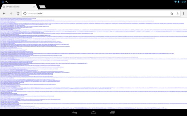 Кэш в браузере на планшете