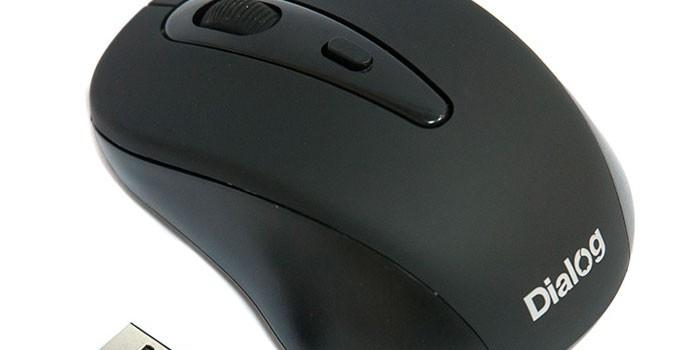 Мышь беспроводная Dialog MROP-05UB