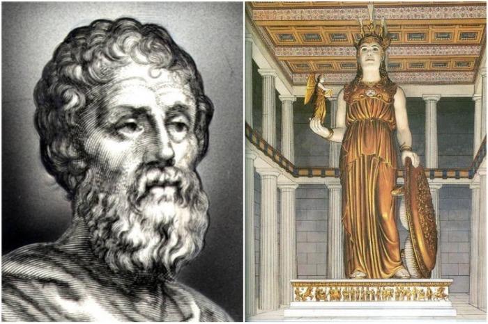 Фидий и его знаменитая статуя Афины, созданная для Парфенона (Афины, Греция). | Фото: pinterest.com.