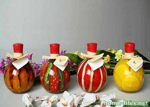 Декор кухни. Декоративные бутылки.