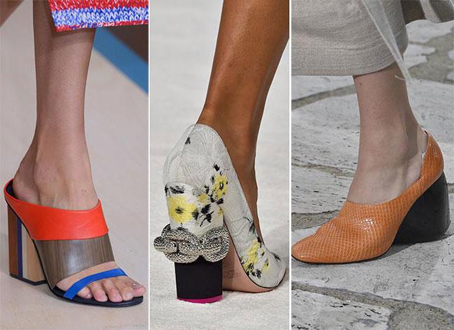 Широкие каблуки - тенденции весна-лето 2015