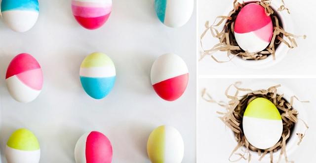 """Пасхальные яйца в стиле """"колор-блокинг"""""""