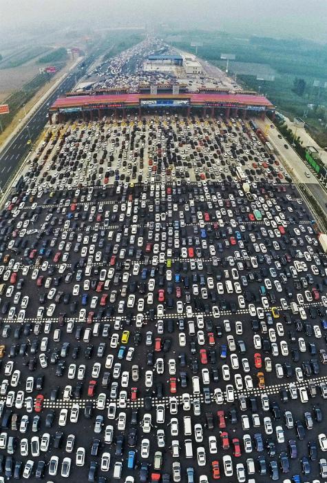 Пропускной пункт в Пекине.
