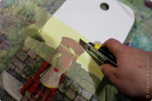 Декор предметов, Мастер-класс Декупаж: как соединить 2 салфетки м\к Салфетки Новый год. Фото 5
