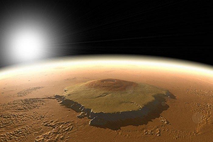 Солнечная система: самая высокая гора на Марсе.