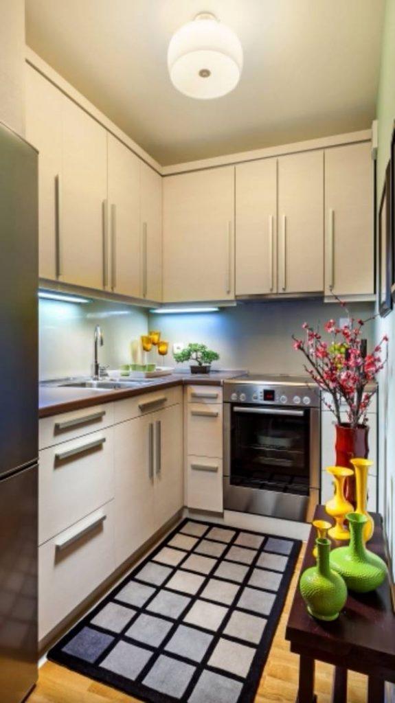 современный дизайн маленькой кухни, фото 28