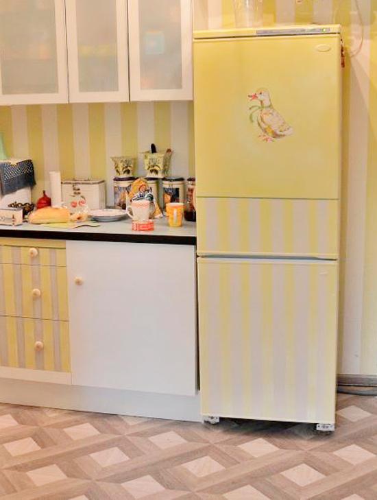Идея декупажа холодильника своими руками