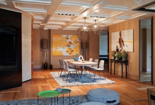 Кессонный потолок в интерьере