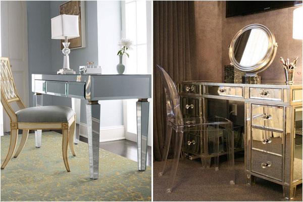 Удивительные зеркальные столы
