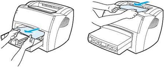 Убираем застрявший лист в принтере