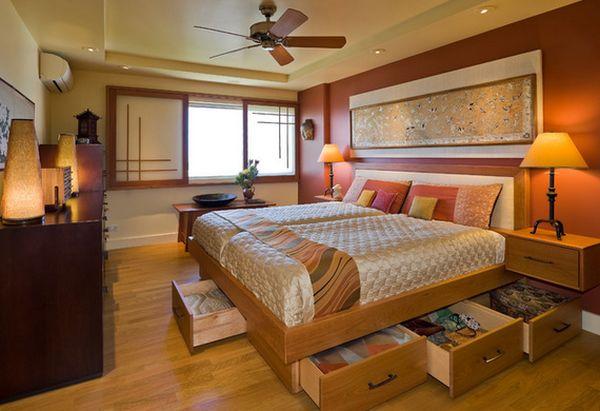 Кровать с выдвижными ящиками со всех сторон