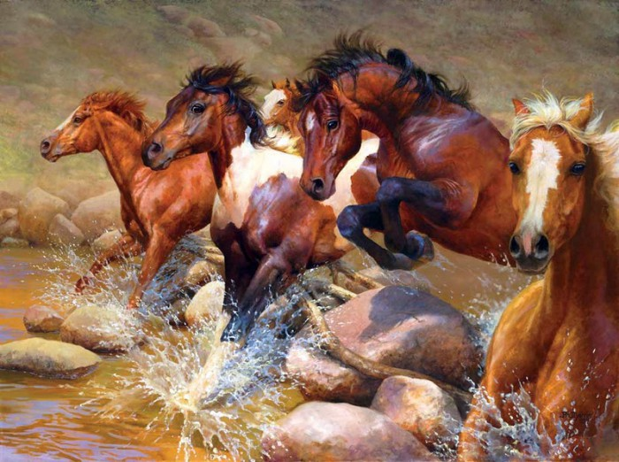лошади художник Bonnie Marris - 02