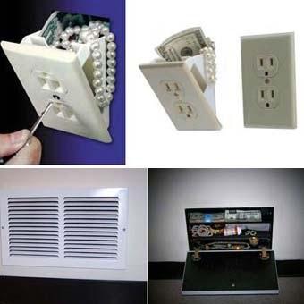 Домашний тайник в розетке или вентеляции