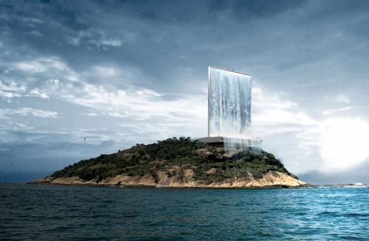 Проект самого высокого (более 105 м) рукотворного водопада, который планируют построить в Рио-де-Жанейро к Олимпиаде 2016 года.
