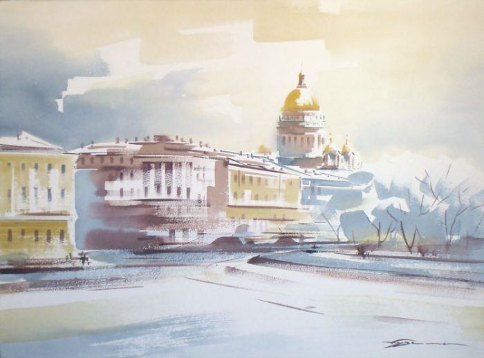 художник Константин Кузема акварель картины - 24