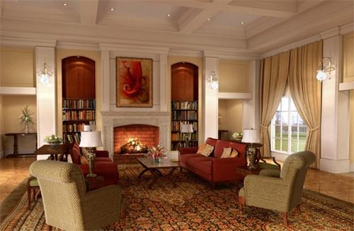 Персидский ковер в гостиной