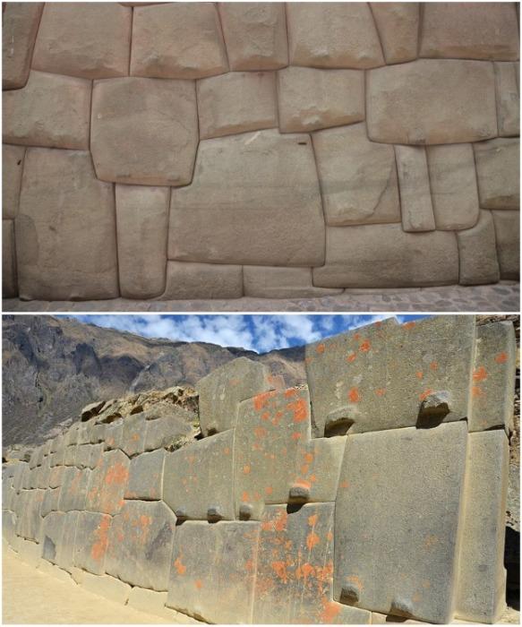 Стены, которые сделали инки, еще несколько тысяч лет назад сохранились в идеальном состоянии (Ольянтайтамбо, Перу).   Фото: travelask.ru.
