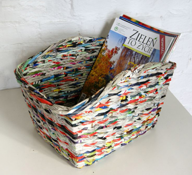 Плетенный лоток для журналов и газет