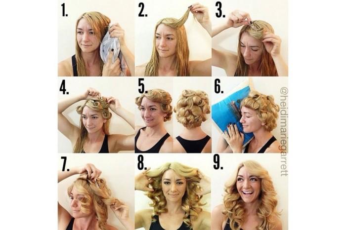 8 ночных укладок для шикарных волос утром