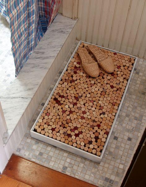 Коврик в ванную из пробок от вина своими руками фото 264
