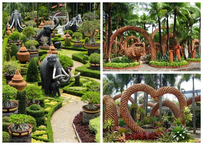 Не только тропические растения украшают территорию ботанического сада No(ng Nooch Tropical Garden, Таиланд). | Фото: liveinternet.ru.
