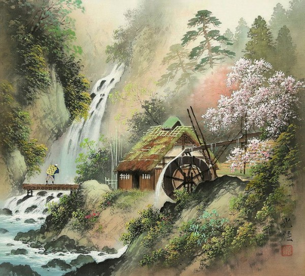 пейзажи художник Koukey Kojima - 06