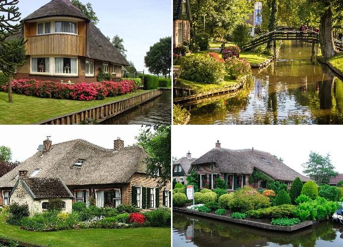 Сказочные дома, каналы и мосты - визитная карточка деревни Гитхорн.