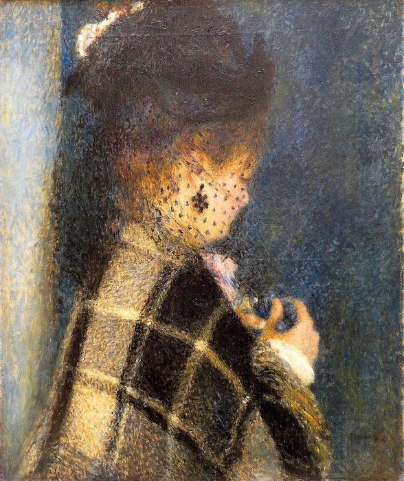 10 Молодая женщина в вуали 1875-77 (588x700, 105Kb)