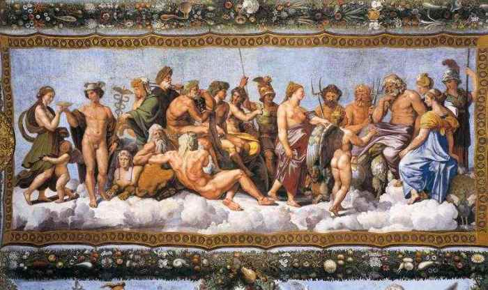 У древних греков был единый пантеон богов.