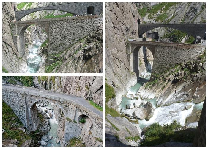 Дьявольский мост был отстроен заново после военных действий (Teufelsbrиcke, Швейцария).