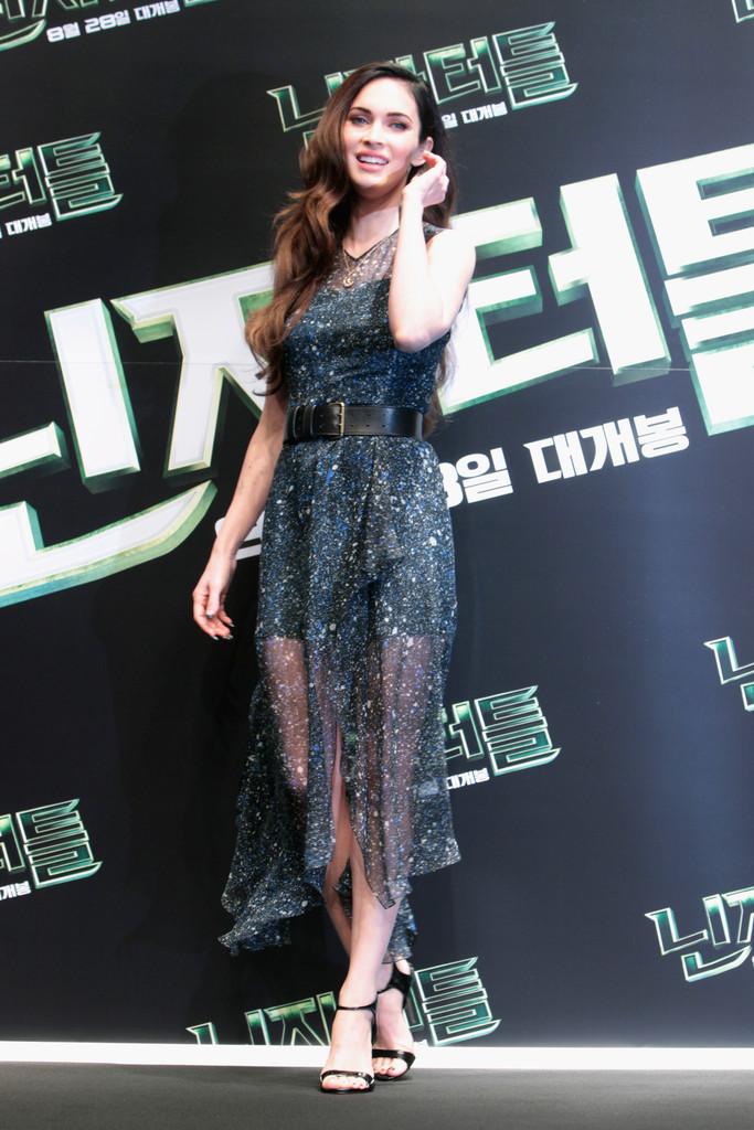 Меган Фокс на премьере Черепашек Ниндзя, Южная Корея