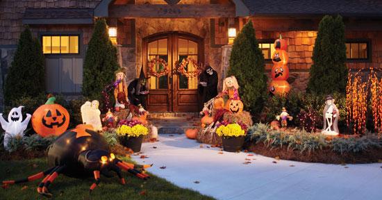 Как украсить сад на Хэллоуин