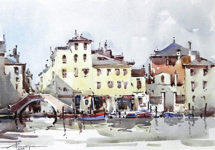 Городской пейзаж. Автор: Corneliu Dragan-Targoviste.