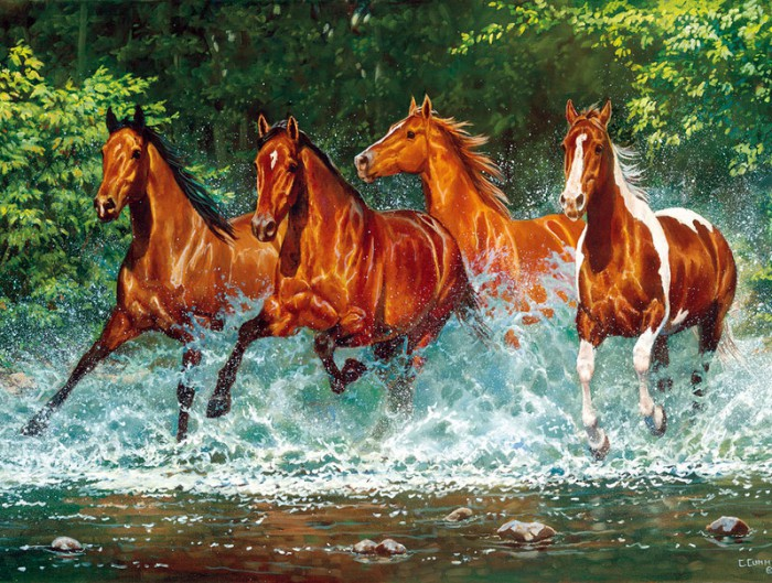 лошади художник Bonnie Marris - 11