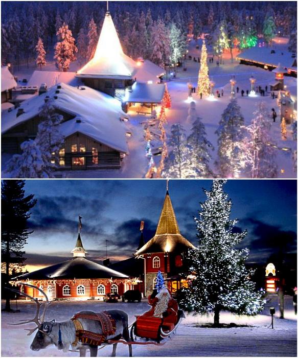 Деревня Санта-Клауса во время Рождества больше похожа на настоящий парк развлечений (Рованиеми, Финляндия).   Фото: hottours.in.ua/ svetlanatravel.com.