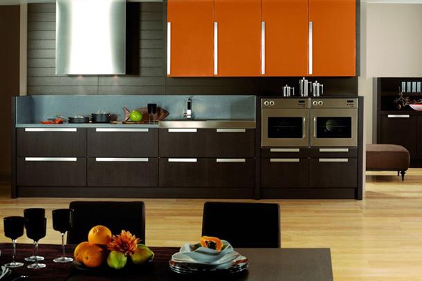 Сочетание цвета венге в интерьере кухни