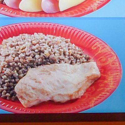 Еда в меню и на самом деле еда, меню, сравнение, различие