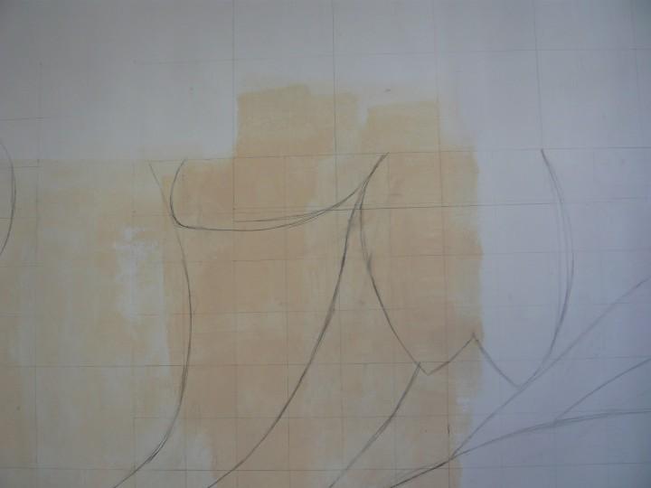 Объемный рисунок для неровных стен