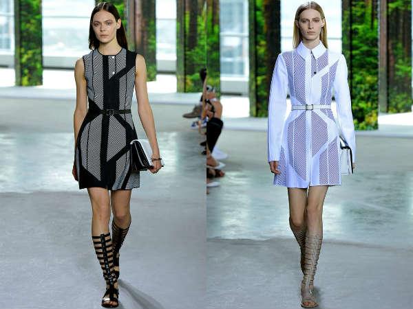 Модные офисные платья весна-лето 2015