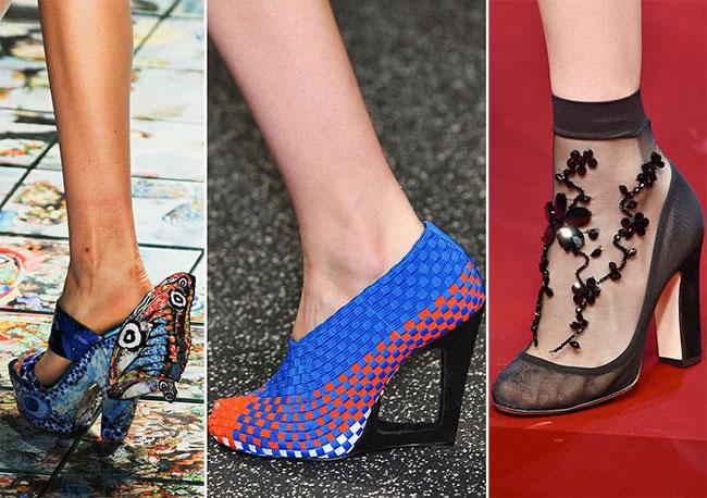 Необычные модели туфель - тенденции весна-лето 2015