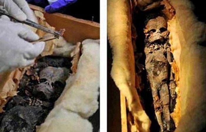 Мумия, найденная вблизи пирамиды Сенусерта II.