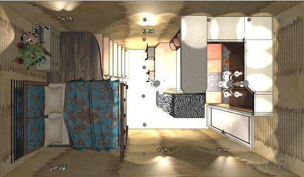 дизайн однокомнатной квартиры студии фото