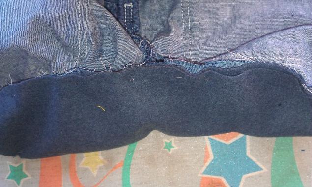 Модная сумка из старых джинсов, фото № 8