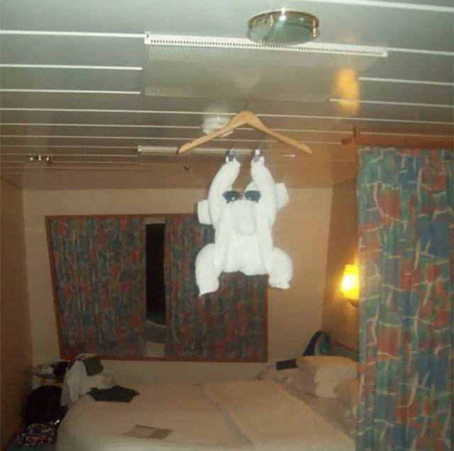 Забавные фигурки из полотенец, которыми горничные отелей встречают своих постояльцев Юмор,приколы