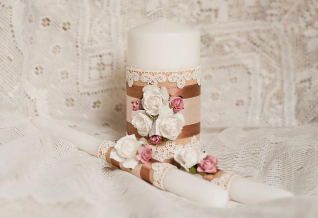 Свечи на свадьбу должны отображать общую концепцию торжества