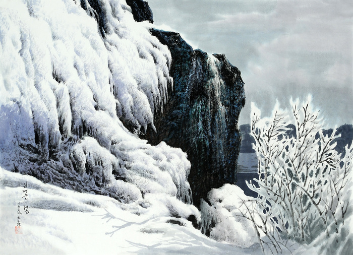 로유담_04.01_리명수의 겨울 - Река Лимёнсу зимой. 2006 (700x506, 184Kb)